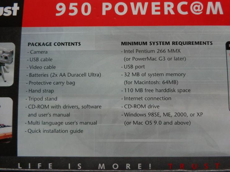 Bild 2: Digitalkamera Trust 950 Powercam Zoom OVP
