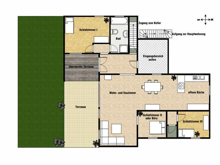 Freistehend mit Südterrasse, Garten & Einliegerwohnung - Haus kaufen - Bild 1