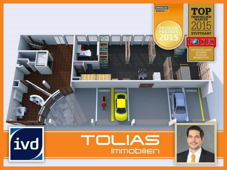 Provisionsfrei: Lagerraum mit überdachter Freifläche und Büro - ebenerdige Anlieferung ... - Gewerbeimmobilie mieten - Bild 1