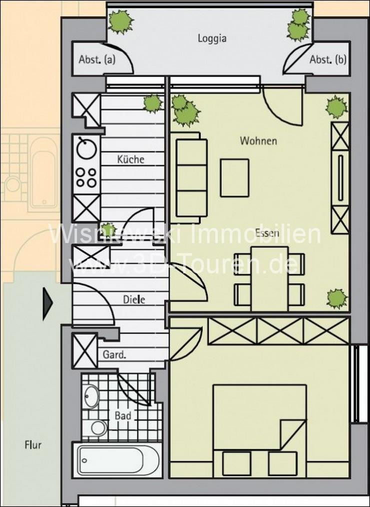 Bild 2: Provisionsfreie 2-Zi-Wohnung mit Aufzug - Neusser Str - in Kürze frei - Ideal für Kapita...