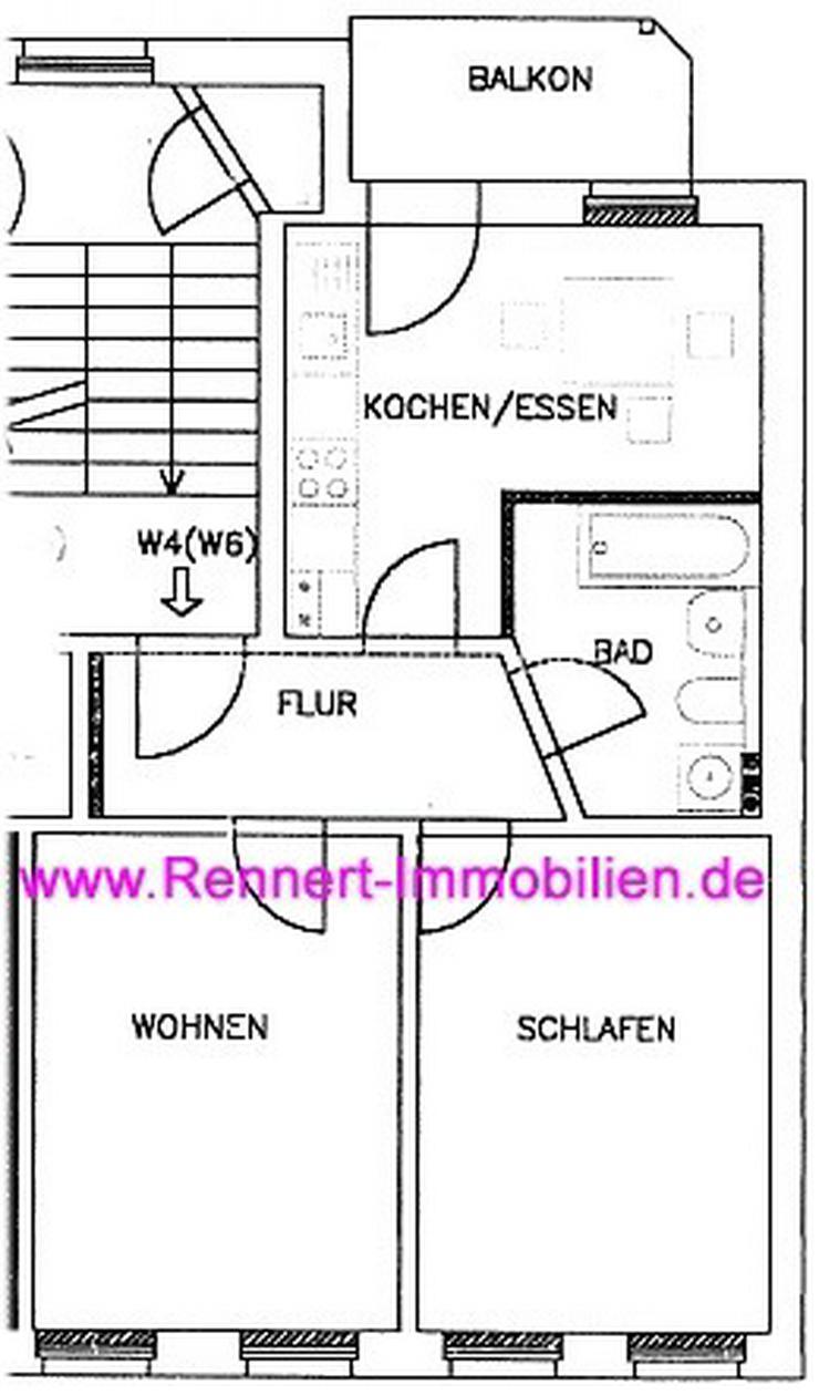 Bild 2: -> Gemütliche 2-Raumwohnung mit Balkon und Einbauküche nähe Abtnaundorfer Park