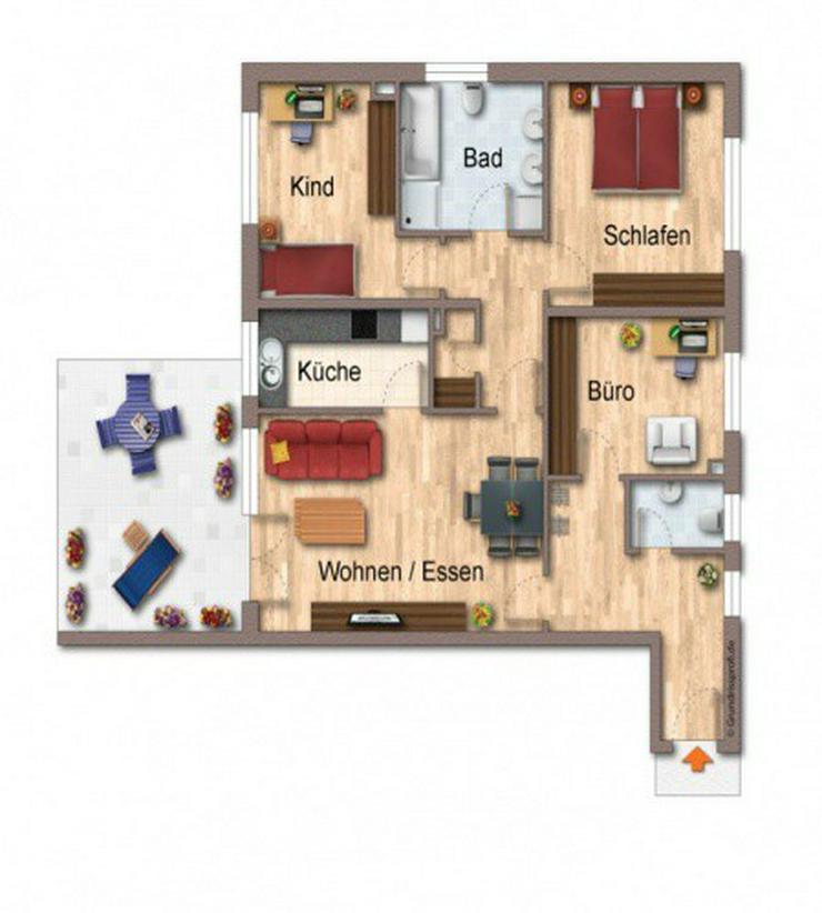 Bild 3: Zur Kapitalanlage! Moderne, barrierefreie 4-Zimmer-ETW mit Garten u. Terrasse.