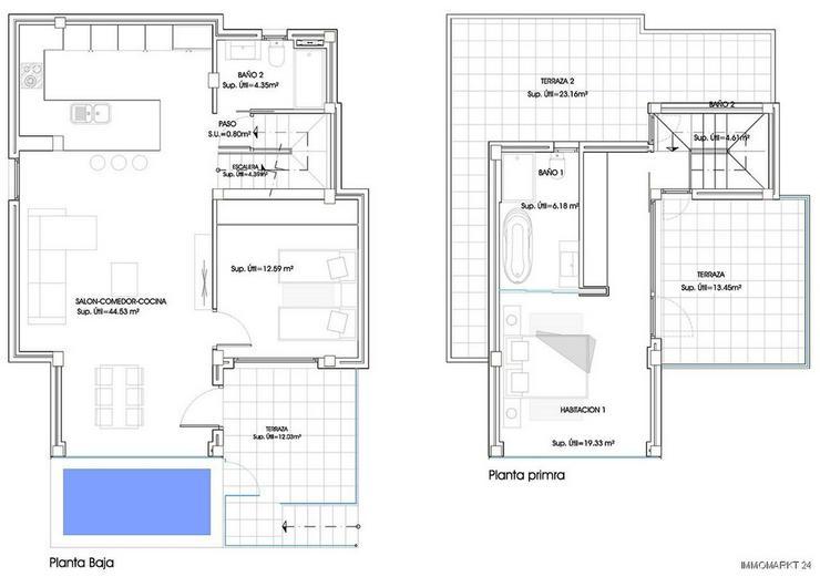 Bild 15: Exklusive und großzügige 5-Zimmer-Villen mit Whirlpool, Gemeinschaftspool und Meerblick