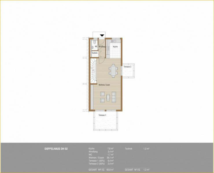Bild 5: Schöne Neubau Doppelhaushälfte in Schlierbach + 2 Terrassen + Tageslichtbad