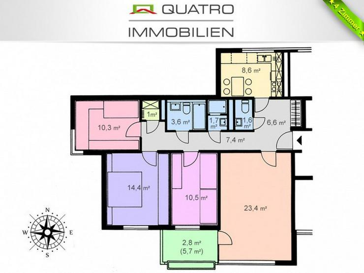 Schöne 4 Zimmer Wohnung mit Balkon und Tiefgarage!