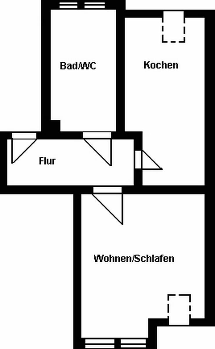 Bild 2: Günstige 1-Raum-Wohnung mit großer Küche!