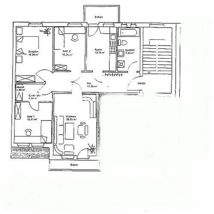 Bild 2: Schnäppchen! Große 4-Raumwohnung zum selbst renovieren! 3 Monate Kaltmietfrei wohnen!!!