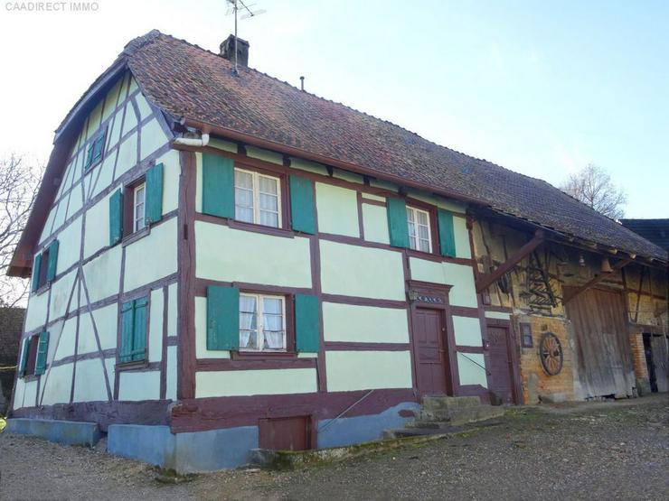 Bauernhaus im Dorfkern mit Nebengebäude u. Umschwung im Elsass - 40 km v/Basel und Weil a...