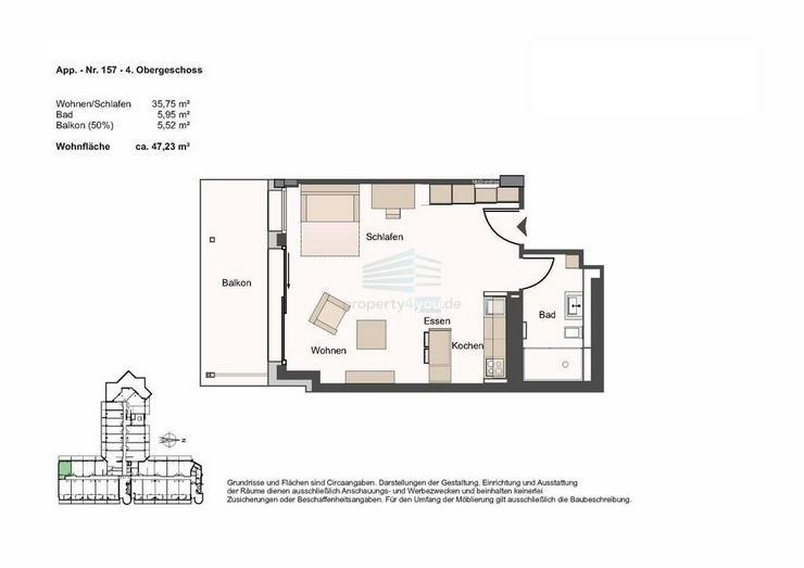 Bild 3: Stilvolles Apartment mit Balkon in München-Bogenhausen