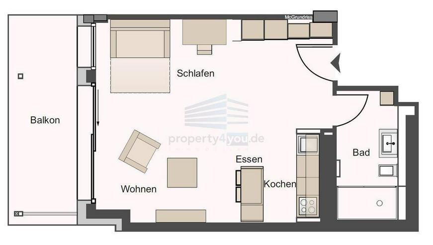 Stilvolles Apartment mit Balkon in München-Bogenhausen - Wohnen auf Zeit - Bild 1