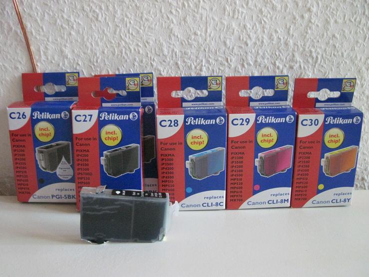 6 Teiliges Tinten-Set für Canon Pixma Serie
