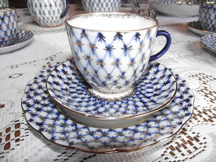 Bild 4: LOMONOSOV Kobaldnetz  Kaffeeservice 12 Personen