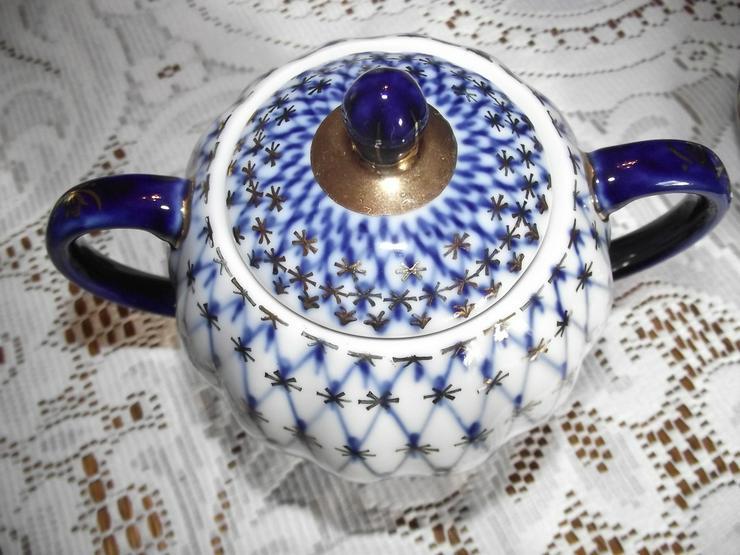 Bild 5: LOMONOSOV Kobaldnetz  Kaffeeservice 12 Personen
