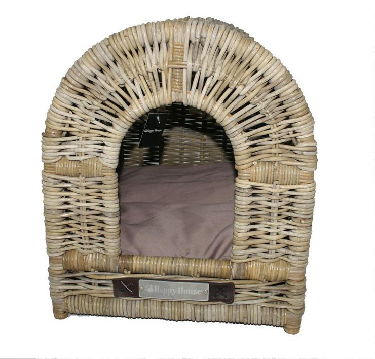 Hundehütte Happy House für innen Rattan