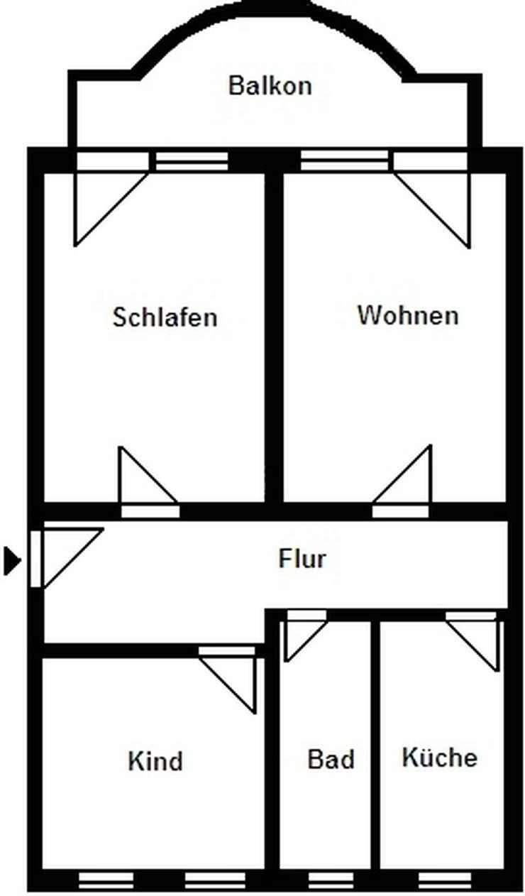 Bild 2: 3-Raum-Wohnung mit Balkon in der Nähe von Dresden!