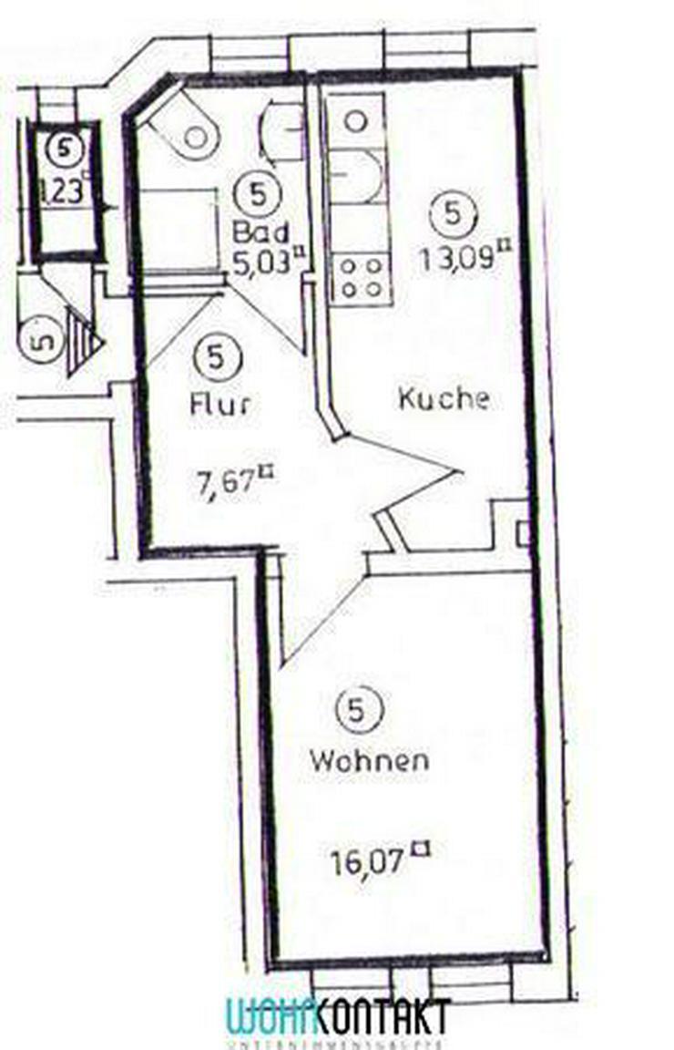 Bild 2: Frisch saniert! 1-Zimmer-Apartment mit EBK und Parkett *