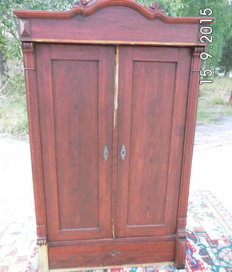Antiker Dielenschrank zweitürig / Kleiderschra - Kommoden & Schränke - Bild 1