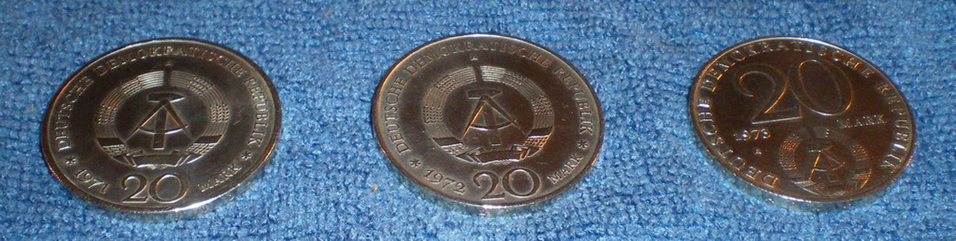 Bild 5: Münzen DDR 20 Mark Stücke (Gedenkmünzen) (VB)