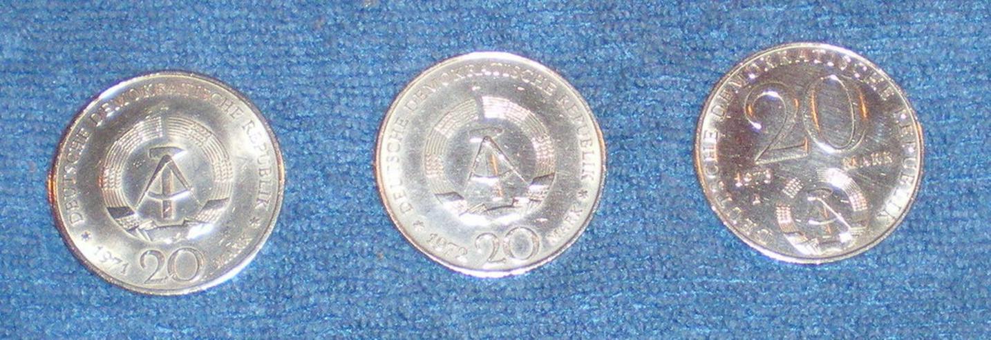 Bild 2: Münzen DDR 20 Mark Stücke (Gedenkmünzen) (FP)