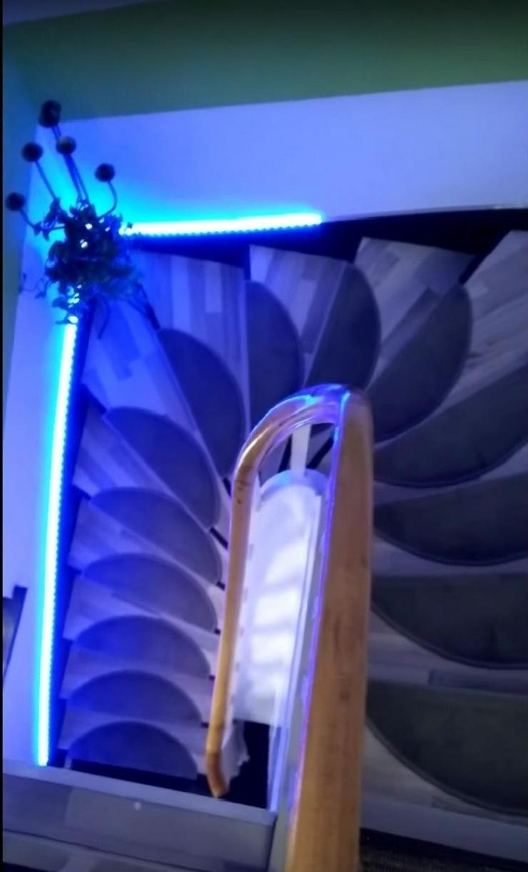 autom led treppenbeleuchtung aslt16 rgb strip in bochum auf. Black Bedroom Furniture Sets. Home Design Ideas