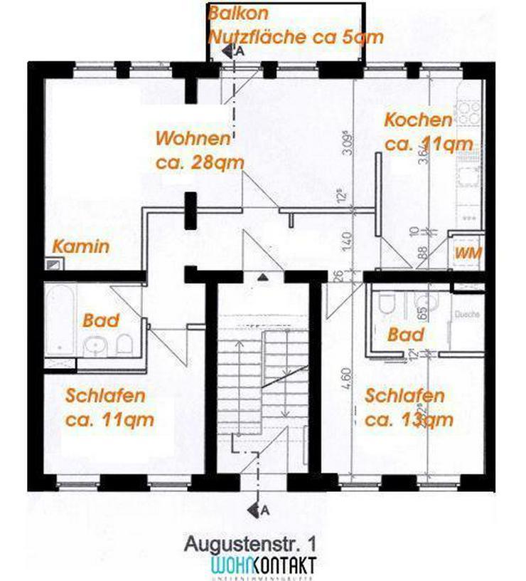 Exzellent sanierte 3-Zimmer-Stadtwohnung * Baubeginn Sommer 2016 - Bild 1
