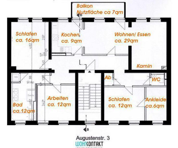 Bild 3: Exzellent sanierte 4-Zimmer-Stadtwohnung * Baubeginn Sommer 2016