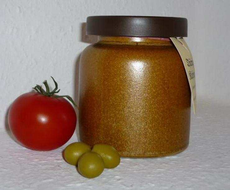 Tomaten Oliven Senf 270 ml Steinzeugtopf