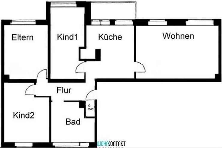 Bild 2: Eleganter ERSTBEZUG: raffinierter Grundriss * 4-ZKB mit BALKON * sehr großes Wohnzimmer