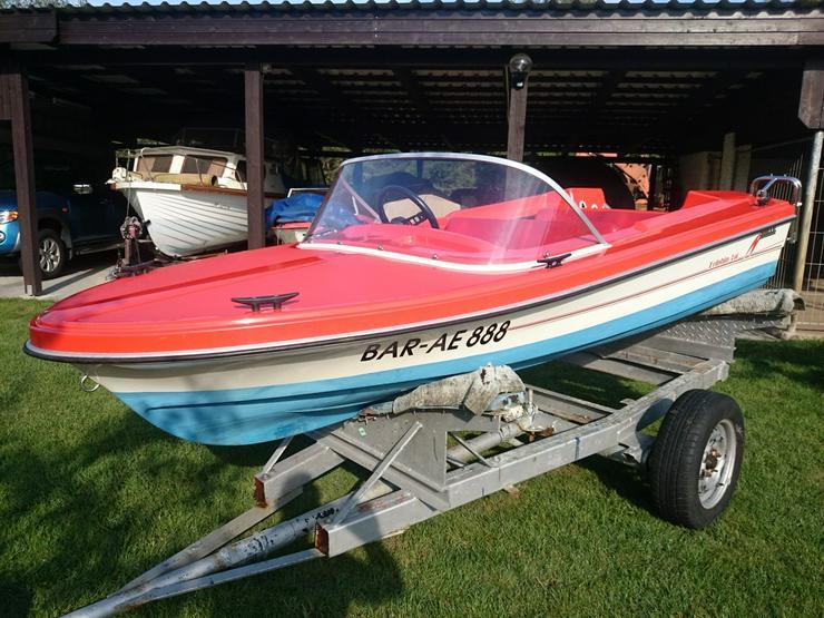 Bild 2: Motorboot Hille Delphin 350x150cm GFK Sportboot