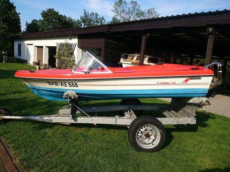 Bild 3: Motorboot Hille Delphin 350x150cm GFK Sportboot