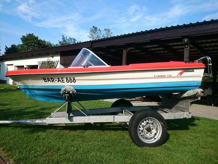 Bild 5: Motorboot Hille Delphin 350x150cm GFK Sportboot