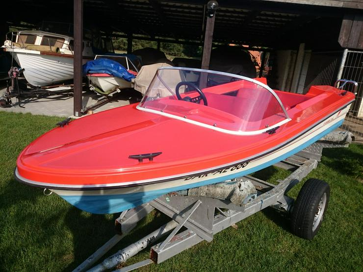 Bild 6: Motorboot Hille Delphin 350x150cm GFK Sportboot