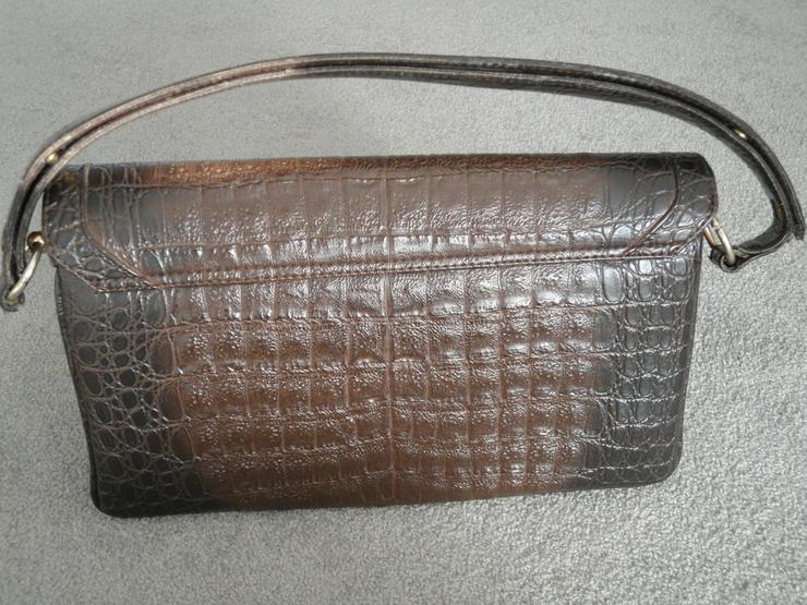 Ledertasche Krokoimitat braun - Taschen & Rucksäcke - Bild 2