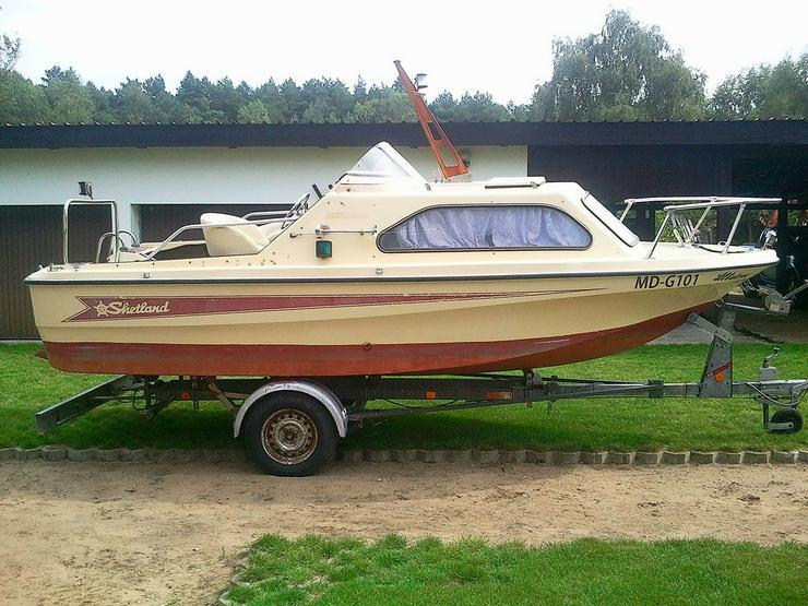 Kajütboot Shetland 535x210cm mit Straßentrailer