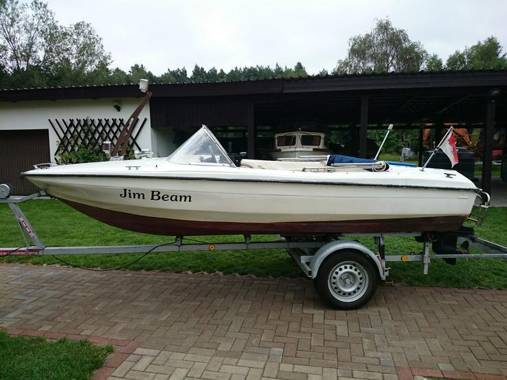 Bild 2: Motorboot Hille 460x180cm Sportboot Angelboot