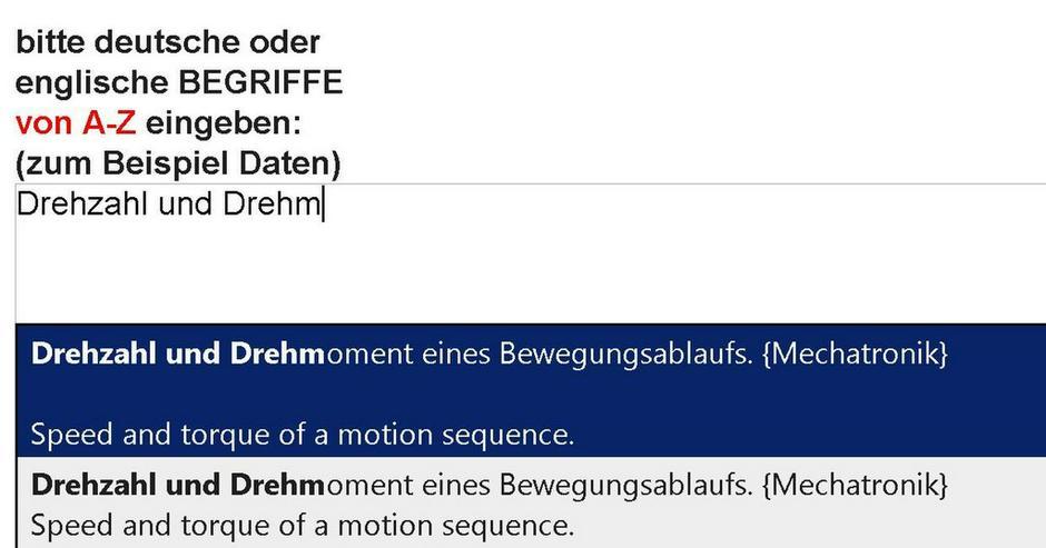 Bild 4: 2. Auflage: Wortschatz-Uebersetzung Mechatronik