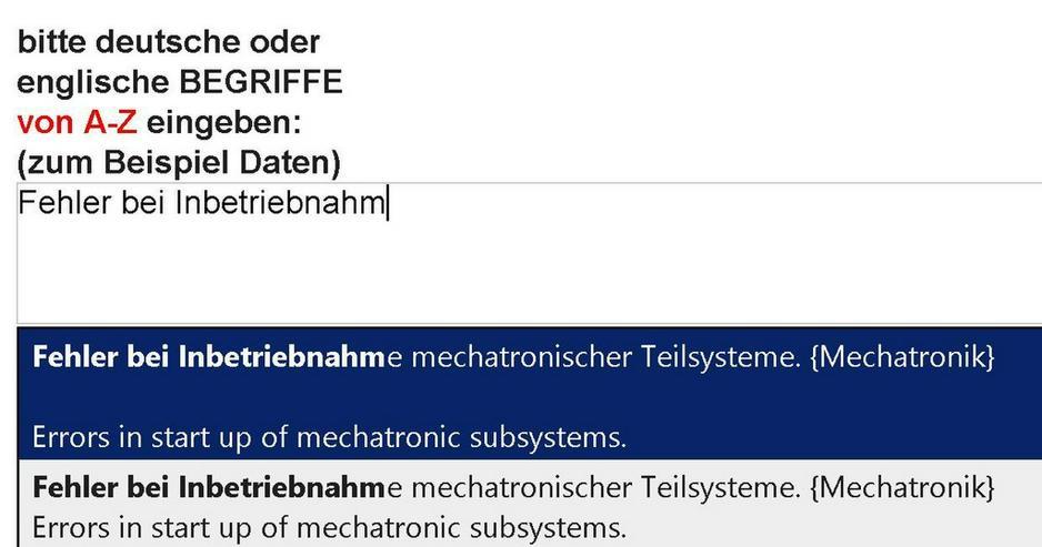 Bild 6: 2. Auflage: Wortschatz-Uebersetzung Mechatronik