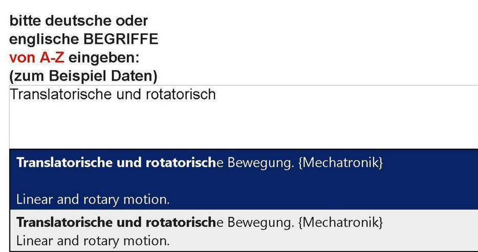 2. Auflage: Wortschatz-Uebersetzung Mechatronik