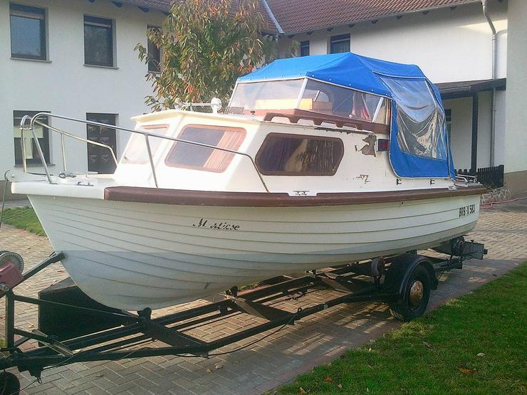 Kajütboot 535x220cm Motorboot mit Cabrioverdeck