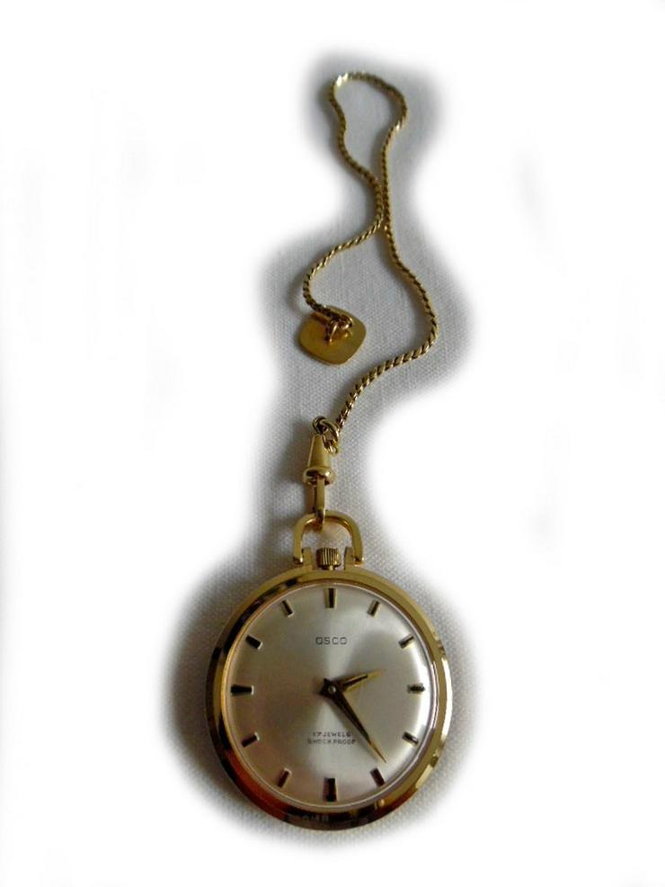 Schöne Taschenuhr von Osco mit Kette - Taschenuhren - Bild 1