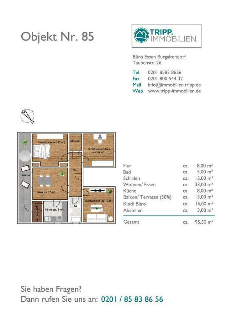 Erdgeschoss mit Terrasse und Gartennutzung - Wohnung mieten - Bild 6
