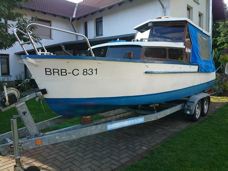 Kajütboot Stahlkörper 650x200cm mit Küche u. WC