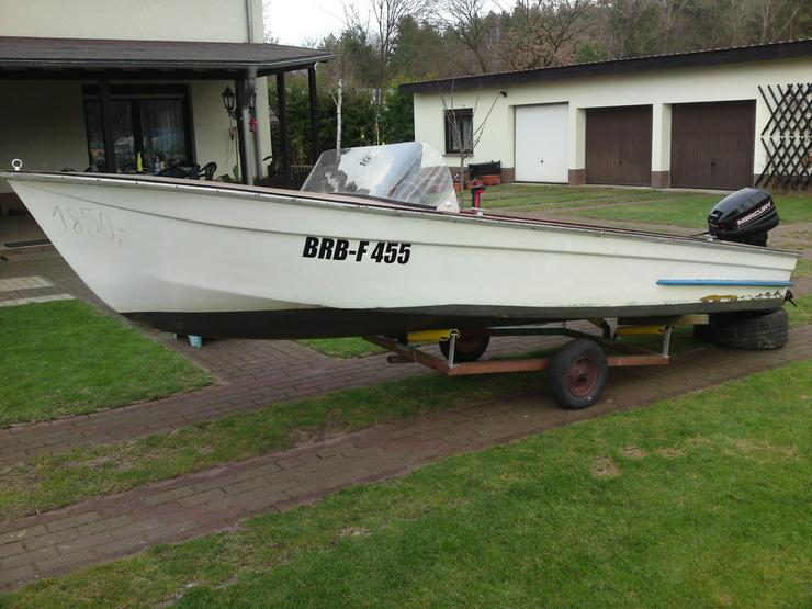 Bild 2: Motorboot Plaue 480x150cm Sportboot Angelboot