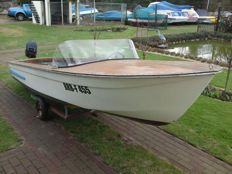 Bild 3: Motorboot Plaue 480x150cm Sportboot Angelboot