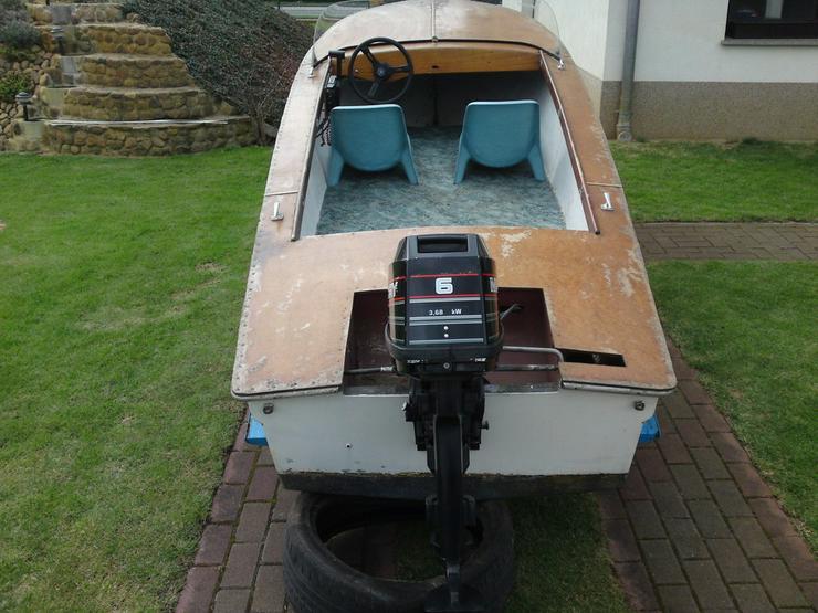 Motorboot Plaue 480x150cm Sportboot Angelboot