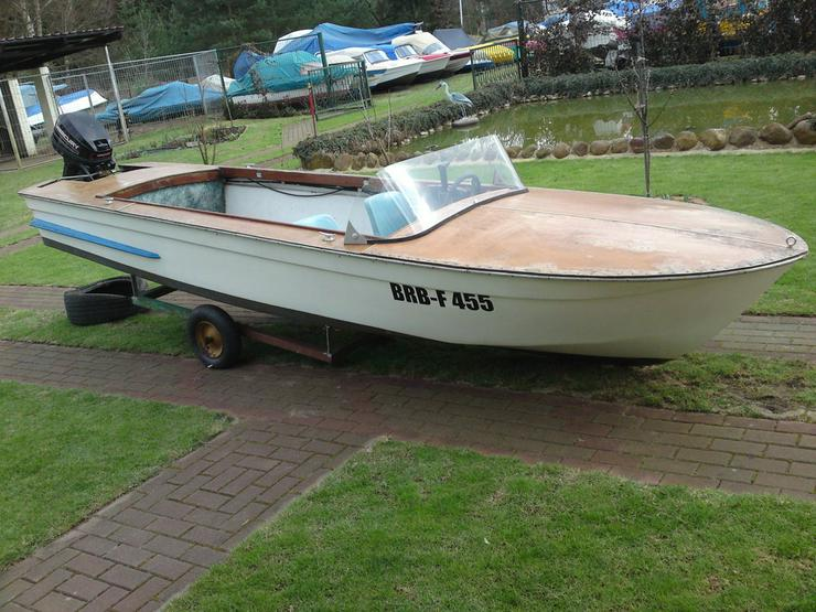 Bild 6: Motorboot Plaue 480x150cm Sportboot Angelboot