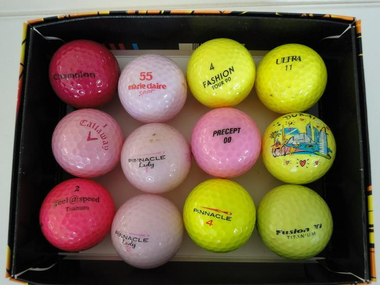 Markengolfbälle bunt 12 Stück - Golfbälle - Bild 1