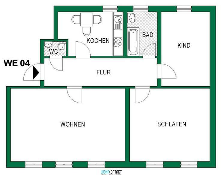 Attraktiv Wohnen Im Herzen von Delitzsch * gut geschnittene 3-RW zu vermieten - Wohnung mieten - Bild 1