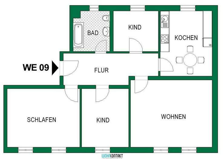 Bild 4: Attraktiv Wohnen Im Herzen von Delitzsch * toll sanierte und gut geschnittene 3-RW zu verm...