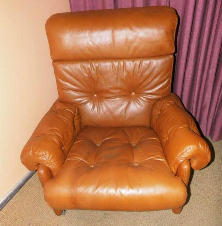 Schöner Fernsehsessel / bequemer Sessel Kunstl